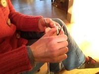 Watch Susan B. Anderson Knitting in the Round on Double-Pointed Needles - not instructional just a quiet watching experience.