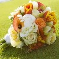 Wedding, Flowers, Reception, White, Ceremony, Orange, Bridesmaids, Yellow, Gold, Inspiration, Board, And, Bouquets, Bride and bloom wedding flowers