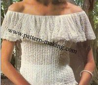 Ruffle Collar Top. This is a free pattern for sizes Small (8-10), Medium (12-14) and Large (16).