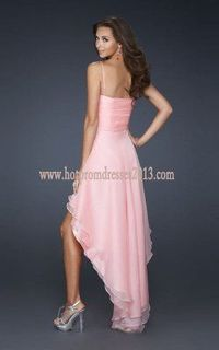 Cotton Candy Pink Sparkle Bust Spaghetti Strap Prom Dresses
