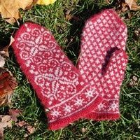Winter Wonderland Mittens #free #knitting #pattern