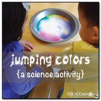 Jumping colors {a science activity} from Gift of Curiosity