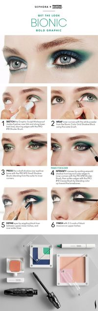 Get the Look: Bionic Bold Graphic Eyes HOW TO #Sephora #Emerald #ColoroftheYear