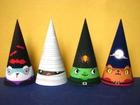 Halloween party hats. #Halloween #party