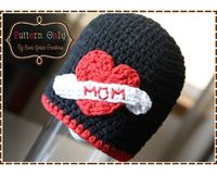 Crochet Hat Pattern HEART TATTOO