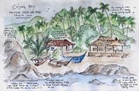 Travel sketch of Colomb Bay, Goa