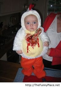 Halloween funny kid costume is scary!