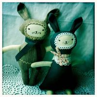 Bunny Boos Softie Rattles by Nettle & Brier, via Flickr