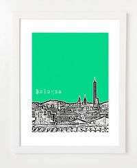 Bologna Italy Art Print - Bologna Poster - Europe Travel Art - Italian - 8x10. $20.00, via Etsy.