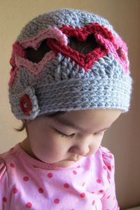 Crochet Heart Hat Pattern