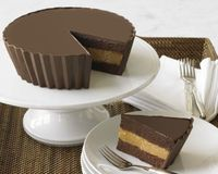 Peanut Butter Cup Cake. Image Only. How to make this?