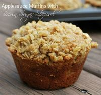 Applesauce Muffins with Brown Sugar Streusel recipe from {Buttercream Bakehouse}