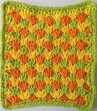 Summer Shells Crochet Dishcloth