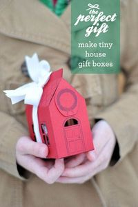 How to make: a house gift box