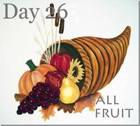 how to paint fruit in cornucopia