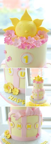 a beautiful sunshine themed birthday party: the cake