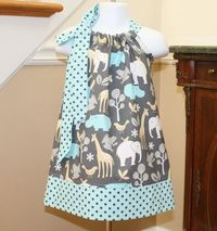 zoo Pillowcase Dress toddler dresses michael by BlakeandBailey, $19.99