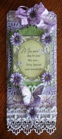 Lavender Delicate Asters Tag