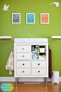 Ikea Expedit as Changing Table for Baby