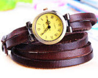 5 Colors Leather Wrap Watch ,Women Wrap Watch Muti-Circle Leather Watch Bracelet,Vintage Style Women Leather Watch,