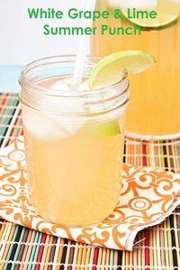 White Grape & Lime Summer Punch