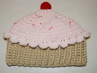 Crochet Creative Creations- Free Patterns and Instructions: Crochet Cupcake Hat