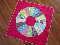 Wheel Quilt Pattern by Stitched in Color