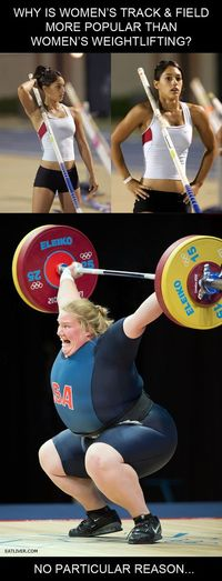 Women's track vs. Weightlifting.