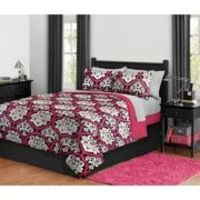 Dotted Damask Bed in a Bag Bedding Set