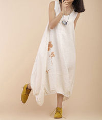 Summer sleeveless white Maxi Dress / Casual princess dress