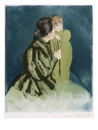 Peasant Mother and Child Giclee Print by Mary Cassatt