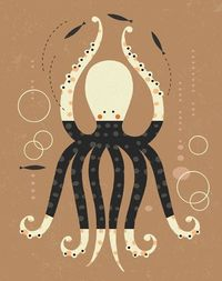 Dancing Octopus©tracy walker licensing.