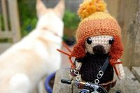 Cleo & Jayne Amigurumi = Defenders of the Yard by kpwerker, via Flickr