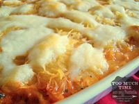 Spaghetti Squash Lasagna- Gluten Free...use a lot less cheese/organic