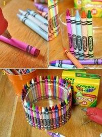 Crayon bowl - a cute gift for a younger kids class.