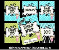 FREE Editable Teacher Binders Think * Share * Teach