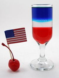 American Flag Mixed Drink Recipe