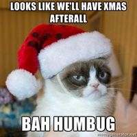Looks Like we'll have xmas afterall bah humbug