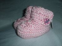 Crochet Baby Booties - 3 to 6 Months - Pink