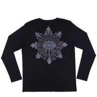 Black Chrome Hearts Horseshoes Print Long T-Shirt