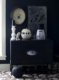 black and white with vintage gray details
