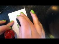 DIY Christmas Tree Water Marble Nails